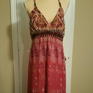 Floral sleeveless maxi dress size 12